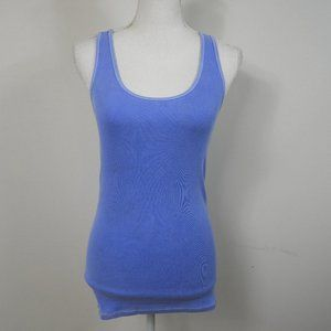 H100 AEO Boyfriend Tank Blue Ribbed
